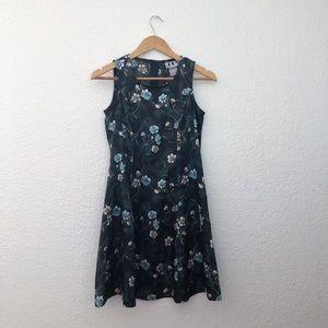 Vintage 90s oriental flower dress